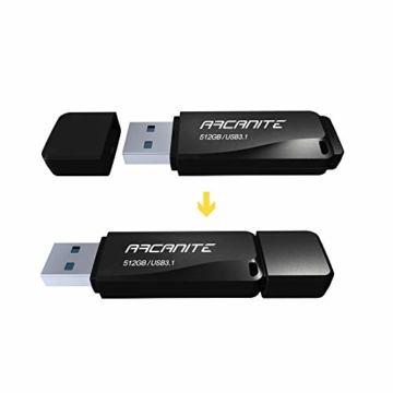 ARCANITE 512 GB USB 3.1 SuperSpeed USB-Stick, Lesegeschwindigkeiten von bis zu 400 MB/s. - 2