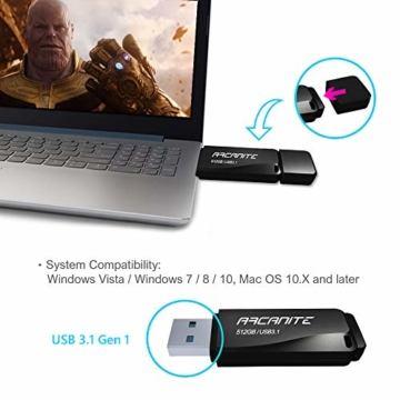 ARCANITE 512 GB USB 3.1 SuperSpeed USB-Stick, Lesegeschwindigkeiten von bis zu 400 MB/s. - 3