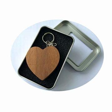FeliSun Customized Holz Herz USB3.0 Flash Drive Pendrive 64 GB 32 GB 16 GB High Speed U Festplatte Memory Stick Externe Speicher Fotografie Hochzeitsgeschenke - 6
