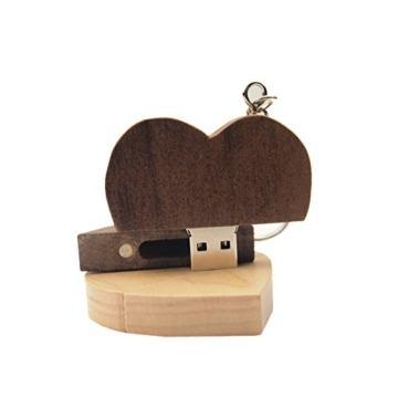 FeliSun Customized Holz Herz USB3.0 Flash Drive Pendrive 64 GB 32 GB 16 GB High Speed U Festplatte Memory Stick Externe Speicher Fotografie Hochzeitsgeschenke - 7