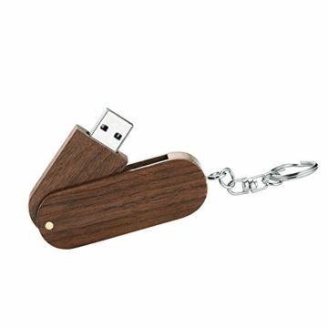 Garrulax USB-Speicherstick, 8 GB / 16 GB / 32 GB, Premium-Rotation, massives Holz, High Speed USB 2.0 Flash Drive Memory Stick Datenspeicherung Pendrive Thumb Disk mit Holzbox - 2