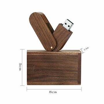 Garrulax USB-Speicherstick, 8 GB / 16 GB / 32 GB, Premium-Rotation, massives Holz, High Speed USB 2.0 Flash Drive Memory Stick Datenspeicherung Pendrive Thumb Disk mit Holzbox - 1