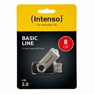 Intenso Basic Line 8 GB USB-Stick USB 2.0 silber-schwarz - 2