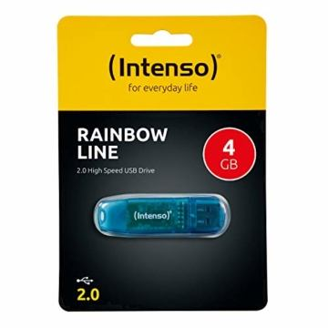 Intenso Rainbow Line 4 GB USB-Stick USB 2.0 blau - 3