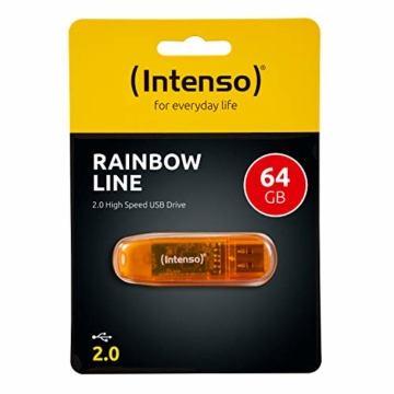 Intenso Rainbow Line 64 GB USB-Stick USB 2.0 orange - 4