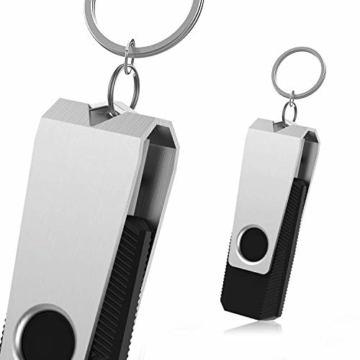 RAOYI 10 Stück USB Stick 4GB, USB 2.0 Flash Laufwerk Schwenken Speicherstick mit Metalldeckel für Laptop/PC/TV/Autoradio - Schwarz - 7