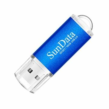 SunData USB Stick 5 Stück 16GB USB-Sticks USB 2.0 Speicherstick Flash Laufwerk (5 Mischfarben: Schwarz, Blau, grün, Rot, Gold) - 2