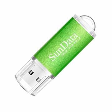SunData USB Stick 5 Stück 16GB USB-Sticks USB 2.0 Speicherstick Flash Laufwerk (5 Mischfarben: Schwarz, Blau, grün, Rot, Gold) - 3