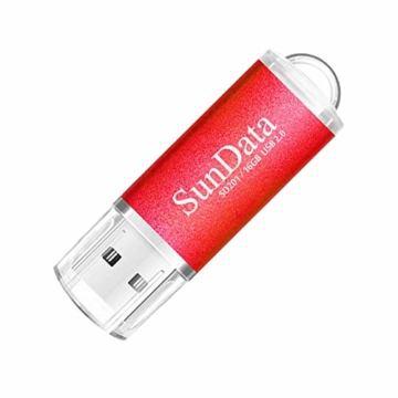 SunData USB Stick 5 Stück 16GB USB-Sticks USB 2.0 Speicherstick Flash Laufwerk (5 Mischfarben: Schwarz, Blau, grün, Rot, Gold) - 6