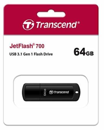 Transcend 64GB JetFlash 700 USB 3.1 Gen 1 USB Stick TS64GJF700 - 2
