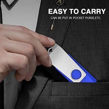 USB-Sticks 4GB, TOPESEL 10 Stück Speicherstick USB 2.0 Memory Sticks Pen Drives, 360° Drehbar Metall Design mit Schlüsselanhänger, (5 Mehrfarbig Schwarz Blau Grün Rot Orange) - 8